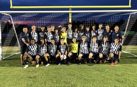 Green Level Men's Varsity Soccer Team Celebrates Win #1!