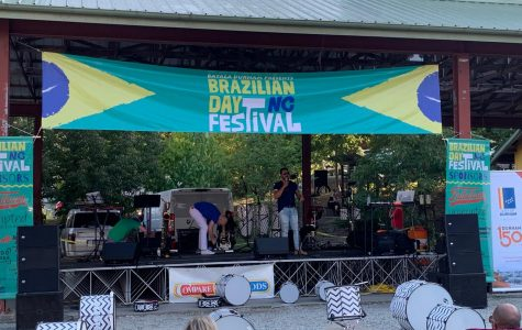 One of the performance stages at the Brazilian Day Festival.