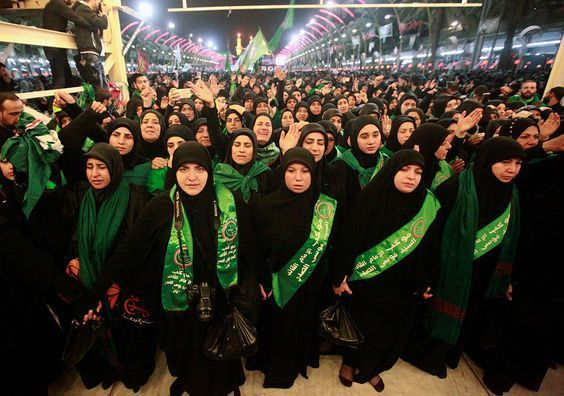Muslim women marking Day of Ashura