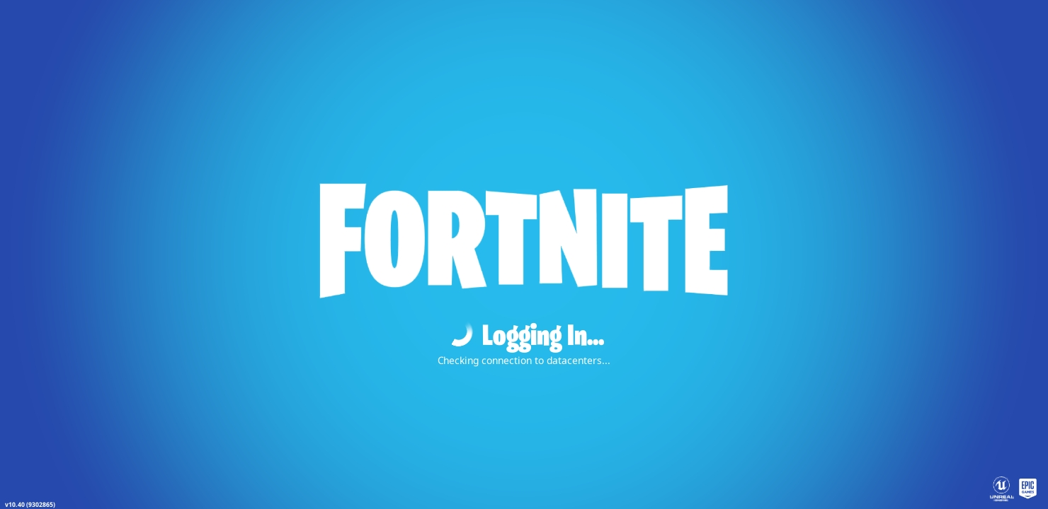Fortnite login page.