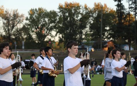 Middle Schoolers Perform With Green Level Marching Band