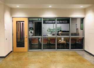 Go to the first floor and check out Green Level's excellent Student Services Dept.