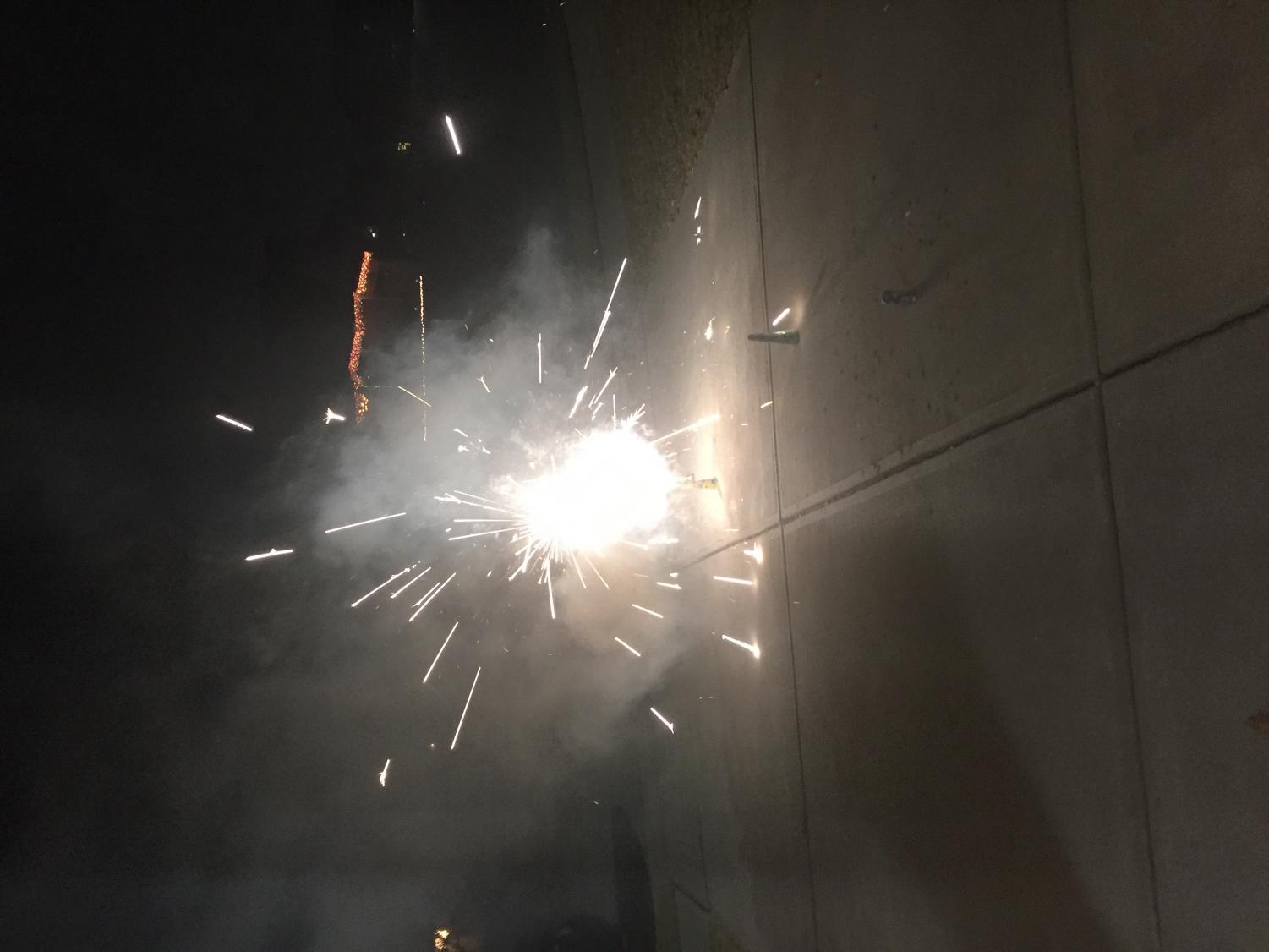 Many people celebrate Diwali with sparklers and such!