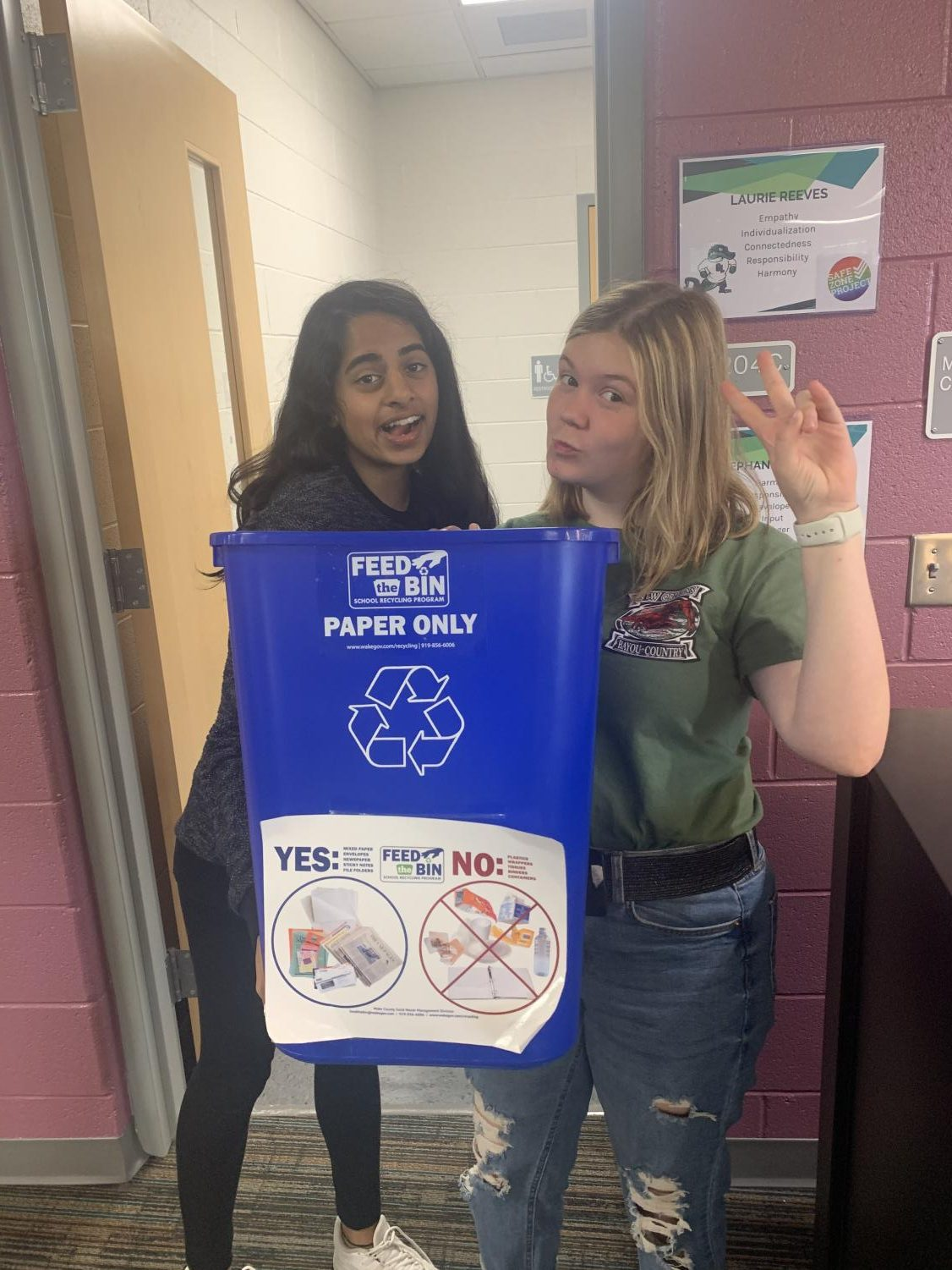 Students show us the importance of recycling at Green Level.