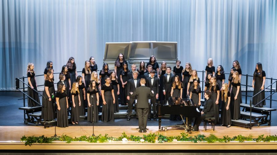 The Green Level Chorus performs.