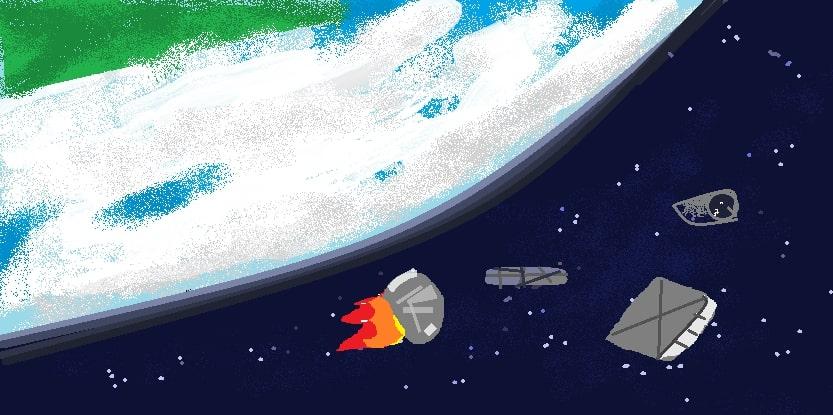 SpaceJunk, by P. Kale