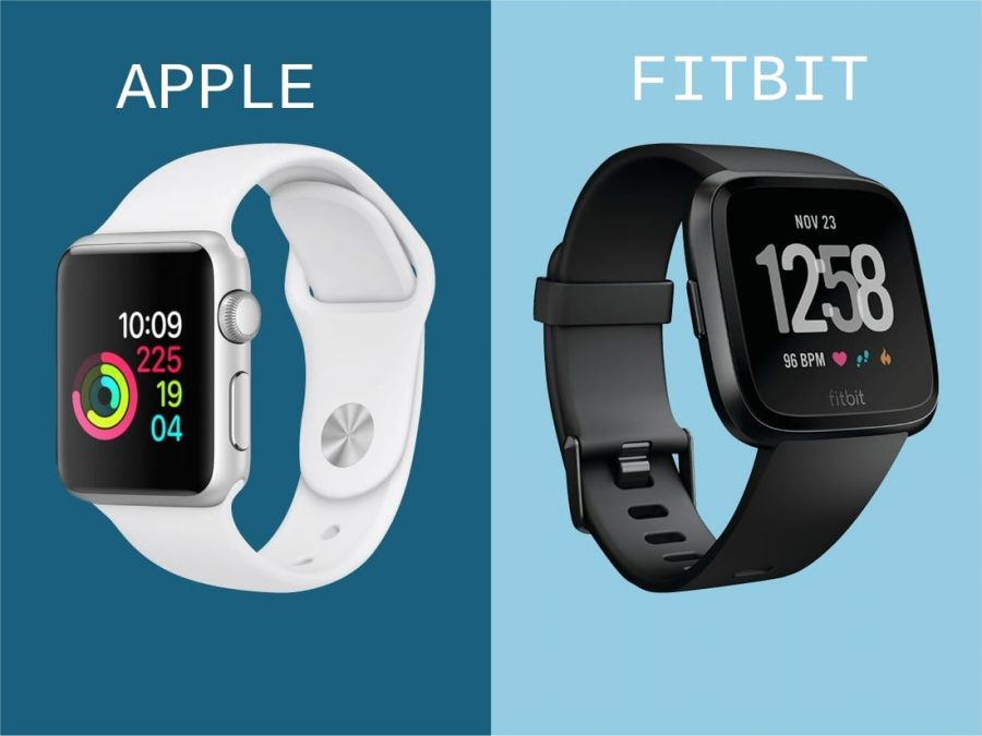 Tech+On+Your+Wrist%3A+Apple+vs+Fitbit