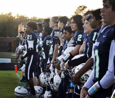 Green Level Football Team Preparing For Kickoff