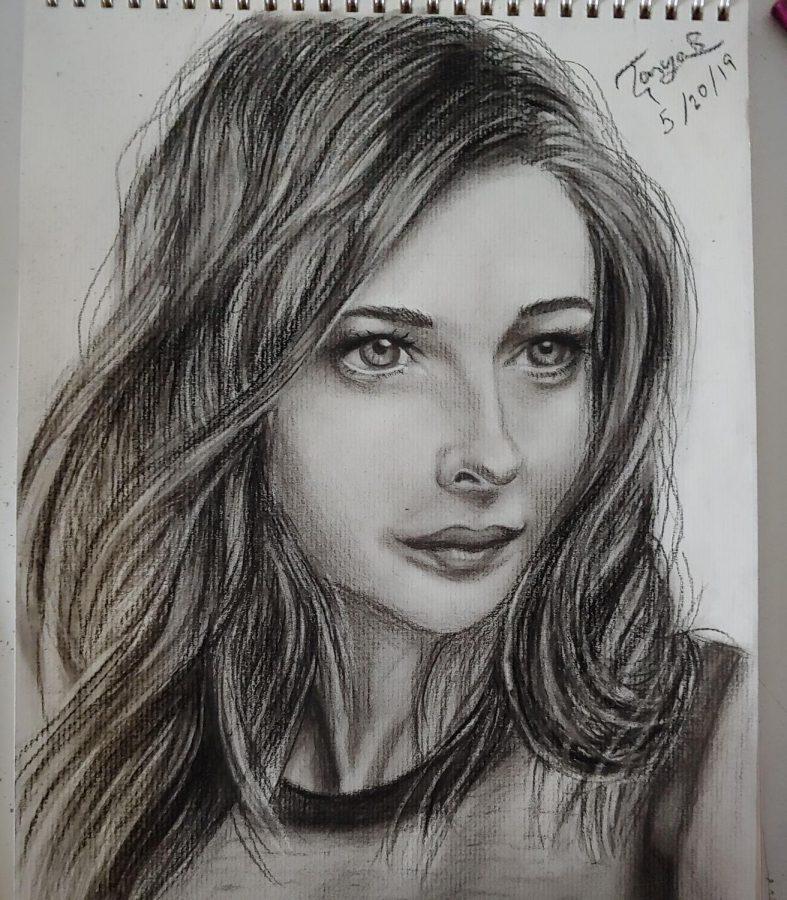 Charcoal sketch by Basak.