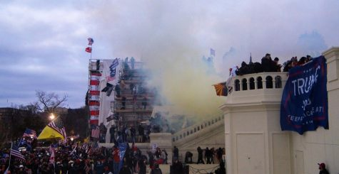 Tear Gas outside the United States Capitol building.