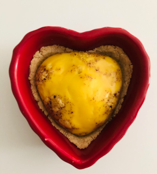 Learn how to make this heart shaped souffle for someone you love or yourself this Valentine's Day!