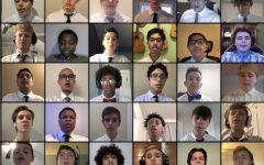 The tenor/bass choir performes