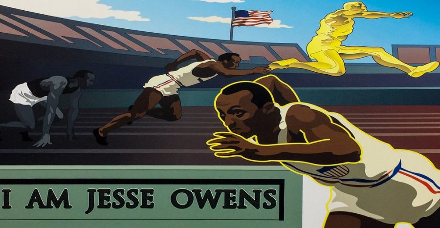 Owens won 4 gold medals at the 1936 Olympics in Berlin.