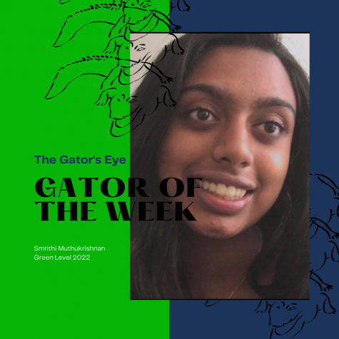 Smrithi Muthukrishnan is the Gator of the Week.