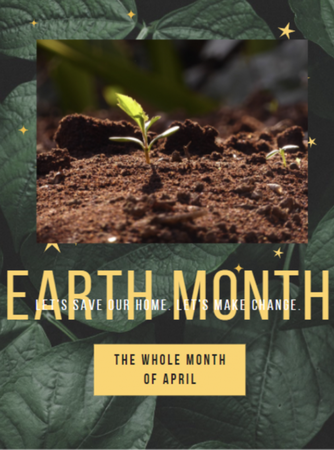 Earth Month is a month to celebrate our home!