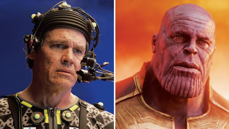 Face scanning creates Thanos in Avengers: Infinity War.