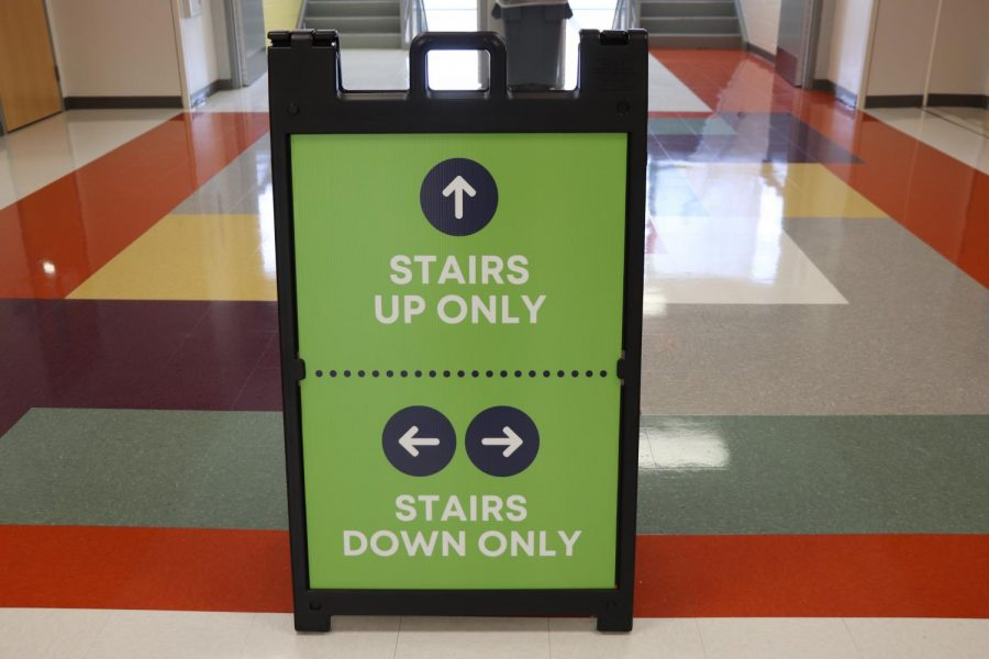 Each+stairwell+is+marked+as+being+either+down+only+or+up+only.