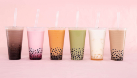 Taro and Mango Boba Teas