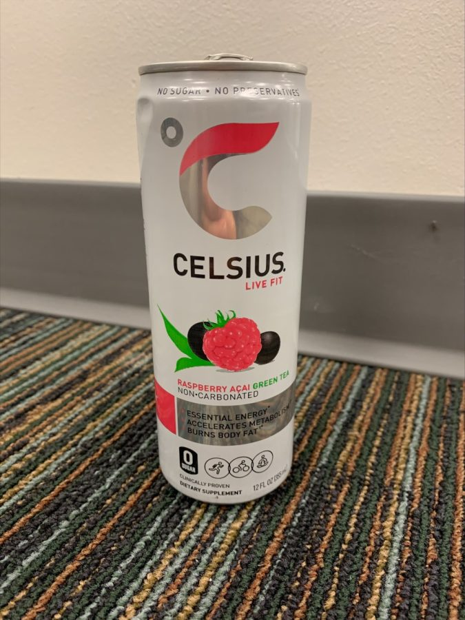 Celsius+energy+drinks+are+gaining+popularity+among+students.+Photo+by+L.+Willis.