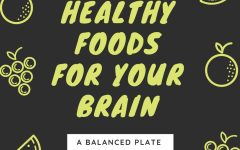 Eating healthy benifits your brain and body! Graphic by N. Wilson.