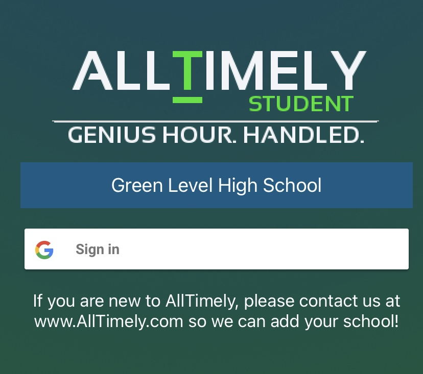 AllTimely makes signing up for clubs simple.
