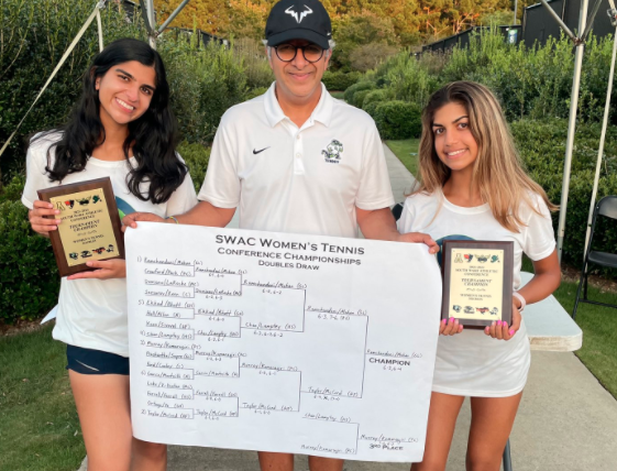 Womens Tennis Secures Back to Back Doubles Conference Championships
